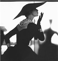 barbara mullen (blowing kiss variant), harper's bazaar, by lillian bassman