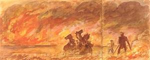 the prairie fire by john steuart curry
