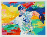 the rocket : roger clemens by leroy neiman