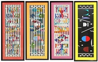 menorah series 1-4 by yaacov agam