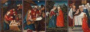 vier tafelbilder by master of the altar of pflock