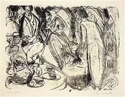 teestunde (tea hour) by ernst ludwig kirchner