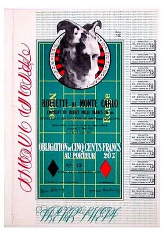 monte carlo bond lithograph by marcel duchamp
