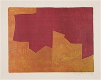 composition lie-de-vin et orange by serge poliakoff