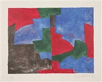 composition verte, rouge et bleue by serge poliakoff