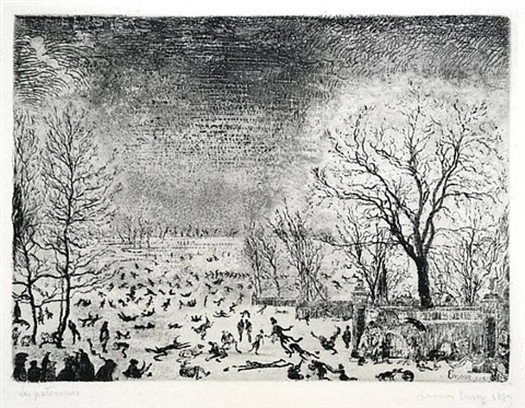 les patineurs (the skaters) by james ensor