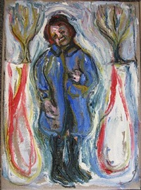 figure in blue by billy childish