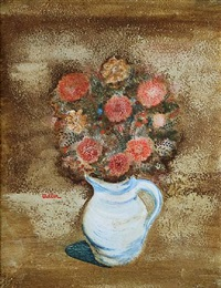 flower still life by jankel adler