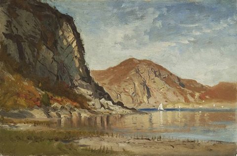 near cro's nest on the hudson, ny by samuel colman