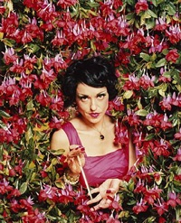 lee with fuchsias by neeta madahar