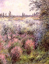 bord de la seine, un coin de berge (sold) by claude monet