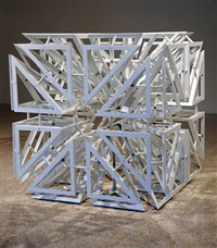 lattice cube 3 by conrad shawcross
