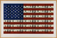 untitled ( $100 u.s. flag on coventry rag paper) by steven gagnon