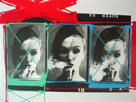 smoke & veil , painted contact by william klein