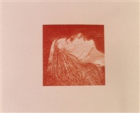 sleeping head by ronald brooks kitaj