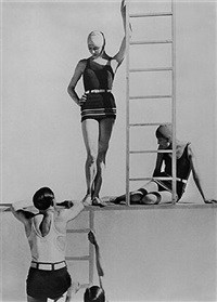 horst and models, swimwear by lelong by george hoyningen-huene