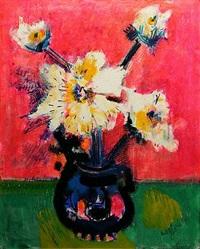 large vase de fleurs by bernard lorjou