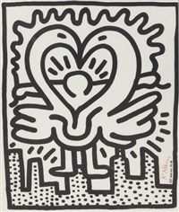 untitled no. 187 (kutztown connection benefit concert poster) by keith haring