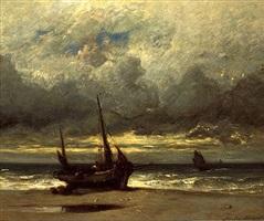 bord de mer (marine: bateaux de pêche) by jules dupré