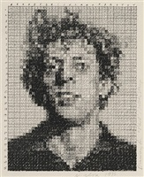 drawing for phil/rubber stamp by chuck close