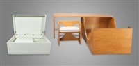 children's bed, desk and chair set with toy box (3 works) by edward durell stone