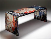 marilyn table by mimmo rotella