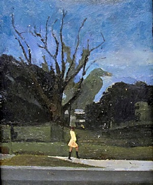a dead tree and a woman by kurt knobelsdorf