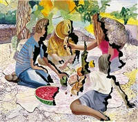 singed picnic by dana schutz
