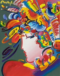untitled (lady in profile) by peter max
