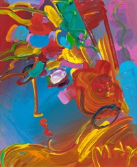 untitled (floral arrangement) by peter max