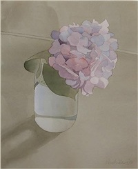 hydrangea in jar by mark adams