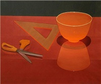 orange glass bowl by mark adams