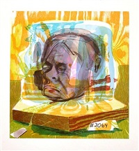 timothy leary's head by dana schutz