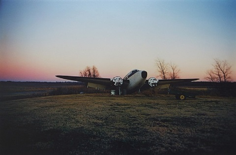 "untitled ""twinkle town airport at sunrise"" from the ""southern suite"" by william eggleston"