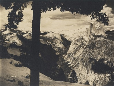 an illustrated view of yosemite by ansel adams