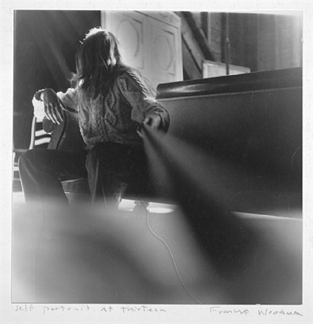 self-portrait at 13, boulder, colorado by francesca woodman