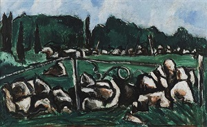 green landscape #3 (dogtown series) by marsden hartley