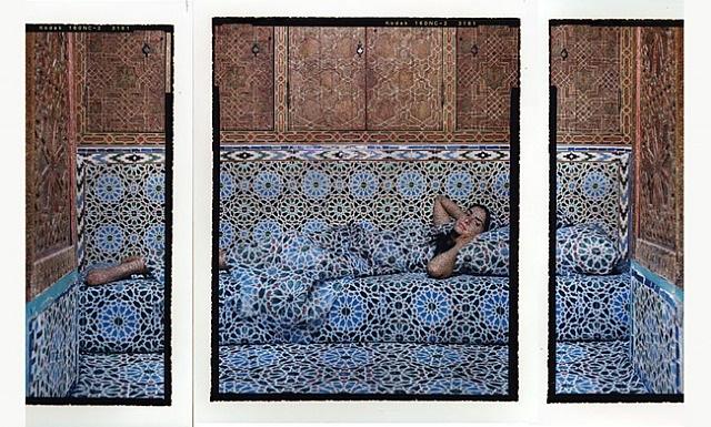harem #18b triptych by lalla essaydi