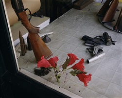 gun & locksmith, 3rd ave., ashland, wi, july 10, 1973 by stephen shore