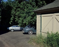 alley off 2nd st., ashland, wi, july 10, 1973 by stephen shore