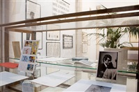 installation view: collection of graphic works and books, palma by marcel broodthaers