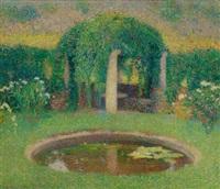 petit bassin près de la tonnelle sud de marquayrol (jardin de l'artiste) by henri etienne-martin