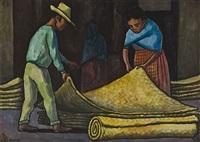 mercado (sold) by diego rivera