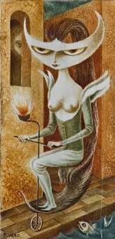 lady godiva (sold) by remedios varo