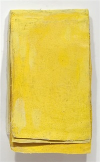 ohne titel (calendar yellow #3) / untitled (calendar yellow #3) by lawrence carroll
