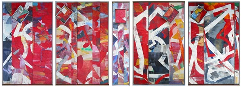 pan piper 5 panels by sam gilliam