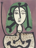 woman with green hair by pablo picasso