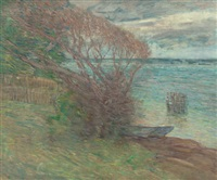 the beach, nassau by julian alden weir