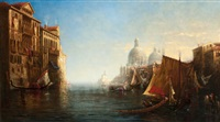 morning on the grand canal, venice by george loring brown