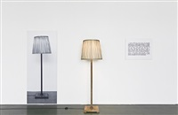one and three lamps by joseph kosuth